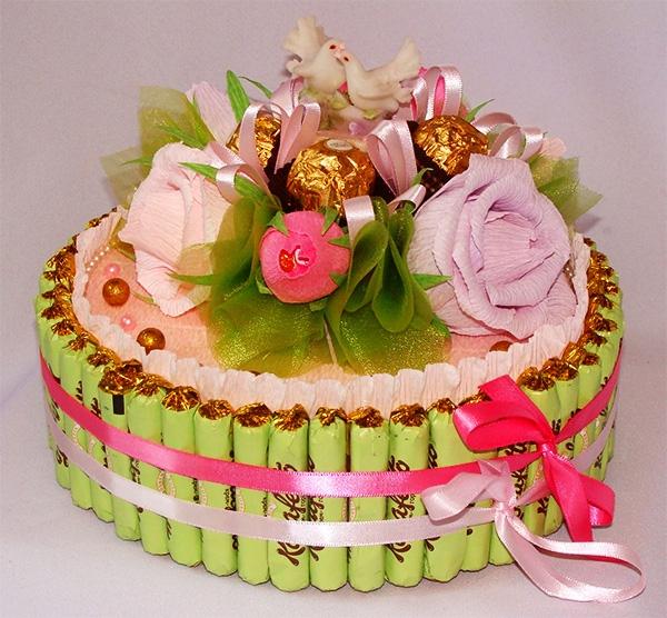 Как сделать красивый торт из конфет