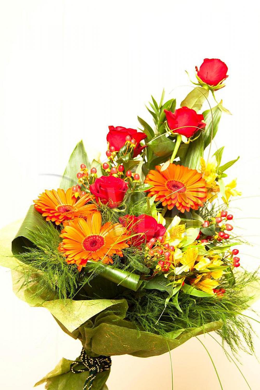 Мужской букет из живых цветов фото
